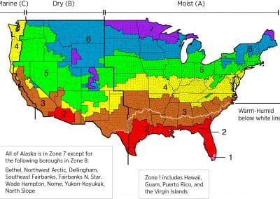US Lower 48 Climate Zone Map